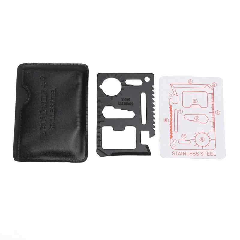 1 Pc wielofunkcyjny Mini przenośne narzędzia zewnętrzne Saber Card nóż klucz do śrub otwieracz awaryjne Survival narzędzia kempingowe piła otwieracz