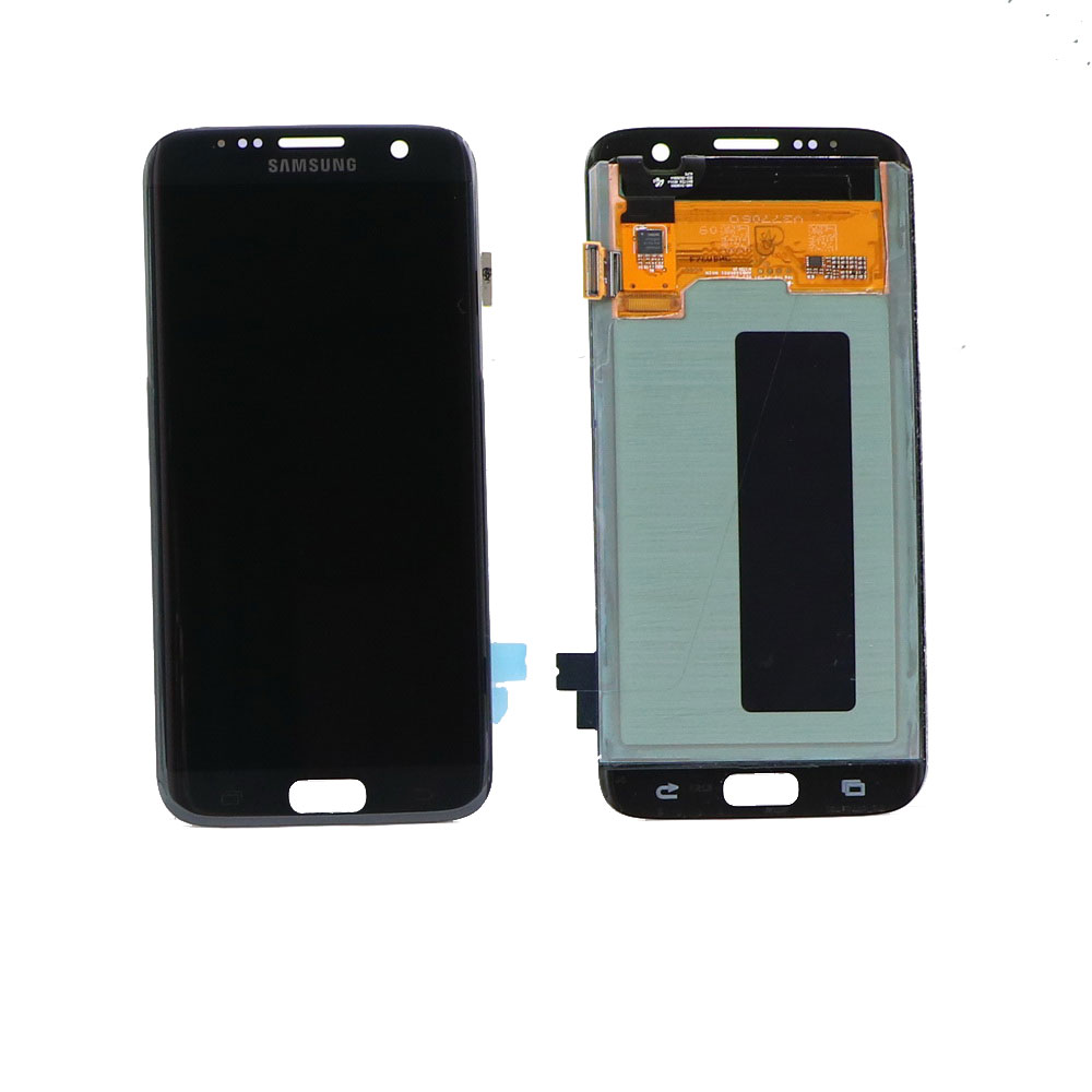 ORIGINAL 5.5'' SUPER AMOLED <font><b>LCD</b></font> For <font><b>SAMSUNG</b></font> Galaxy s7 edge <font><b>G935</b></font> G935F Black dead pixel Touch Screen Digitizer Display with Frame image