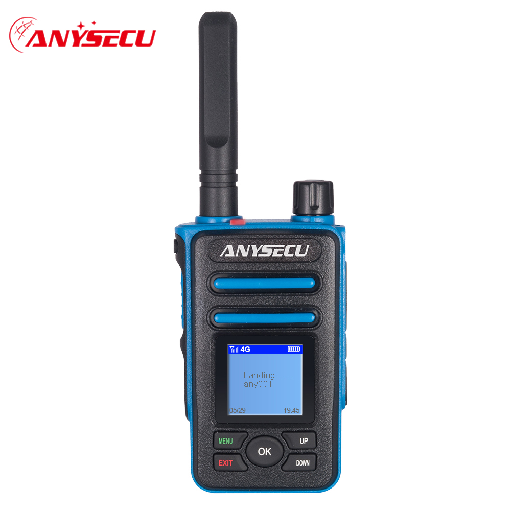 Anysecu 4G LTE 3G CDMA Network Radio F8 Plus SIM Card Mobile Phone POC Walkie Talkie Only Work With Realptt Platform