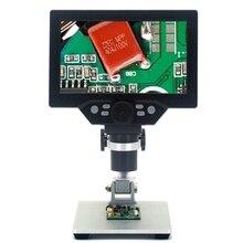 1200X цифровой микроскоп 12MP электронные видео микроскопы 7 дюймов HD lcd паяльный микроскоп телефон Ремонт лупа металлическая подставка