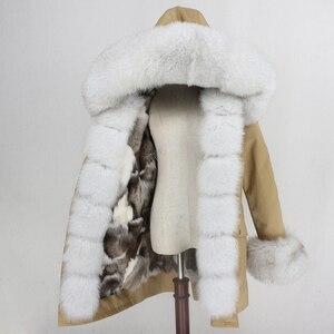 Image 3 - OFTBUY 2020 su geçirmez Parka kış ceket kadınlar gerçek kürk ceket tilki kürk yaka Hood tilki kürk astar sıcak Streetwear ayrılabilir yeni