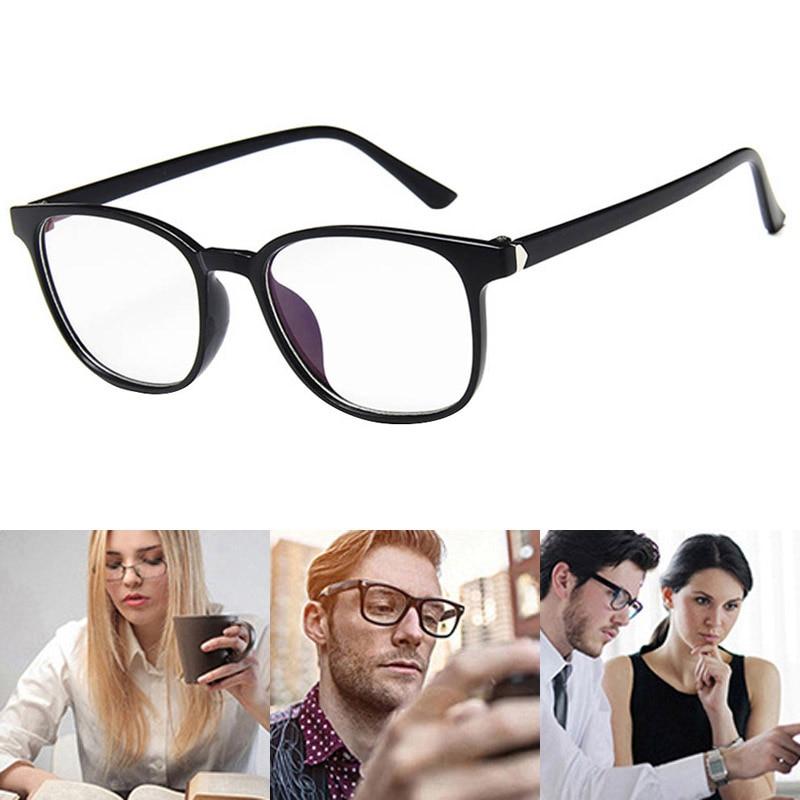 1 Pcs Vintage Glasses Clear Lens Eyewears Radiation Protection Dustproof For Women Men EIG88