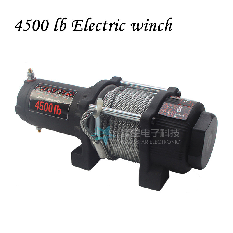 4500 Lb Electric Winch Class Winch Cross-country Vehicle Self-rescue Winch 12v/24v Small Crane Truck Tractor Hoist