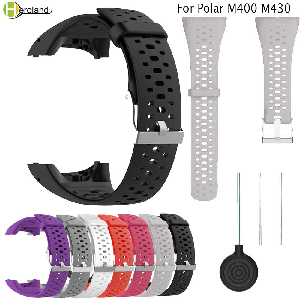 Correa Wristband Strap For Polar M400 M430 GPS Running Sports SmartWatch Band Replacement Bracelet Watches Strap With Tool New