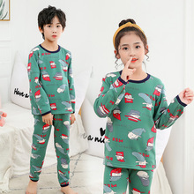 Winter New Children's Thickened Plush Thermal Underwear Set Youth Autumn Clothes and Autumn Pants Two Piece Set