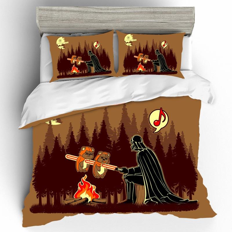 Set Bed Sheets Pillow Cases Bed Linen Set Bedding Sets Cotton Duvet Cover Home Textile Single Star Wars Queen King Size Bedding