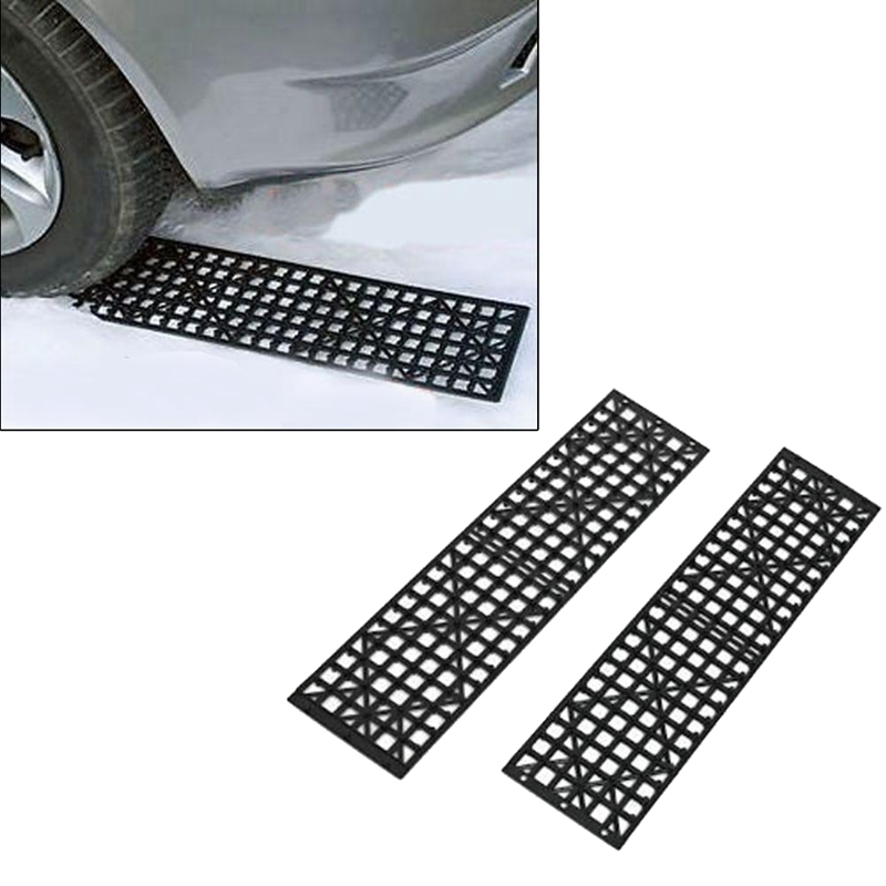 2Pcs Car Snow Ice Mud Road Clearer Auto Vehicle Truck Winter Snow Tire Non-Slip Self-Rescue Plate Chains Tires Recovery Traction