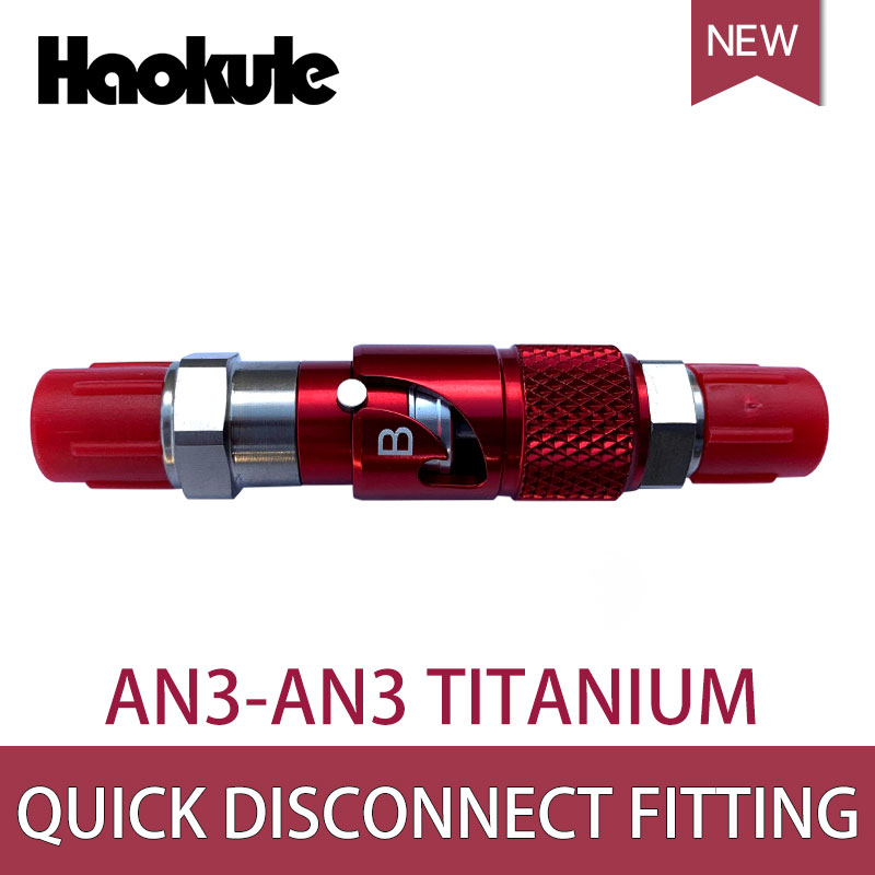 Image 4 - HAOKULE titane/aluminium AN 3 AN3 ligne de frein liquide raccords à déconnexion rapide Kits adaptateurLignes de frein   -