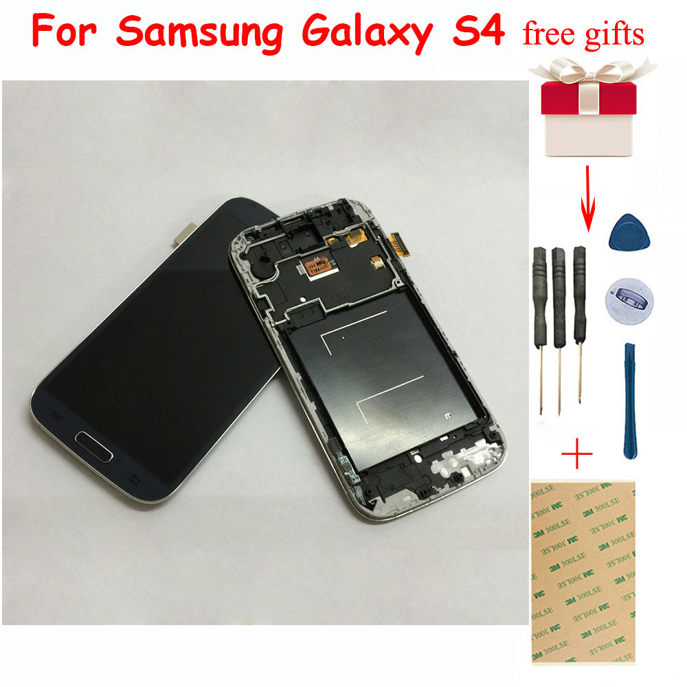 Für <font><b>Samsung</b></font> <font><b>Galaxy</b></font> <font><b>S4</b></font> gt-i9500 i9505 i337 Touchscreen Digitizer Glas Sensor + <font><b>LCD</b></font> Display Panel Monitor Montage mit Rahmen image