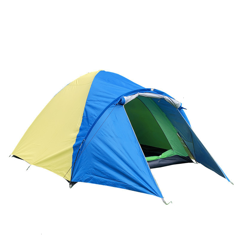 3-4 Person Large Double Layer Tent for Outdoor Camping Hiking Hunting Fishing Travel Picnic Tourist Emergency Tent 320x210x145cm (10)