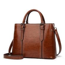 цена на PU Shoulder handbags ladies fashion bags ladies leather handbags Medium size trend women shoulder bag main color brown black red