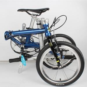 Image 5 - Fnhon FCG1609 מתקפל אופני 16 אינץ Minivelo CR MO פלדה V בלם 9 מהירות נוסע עירוני אופניים לshimano Shift רטרו פנאי BMX