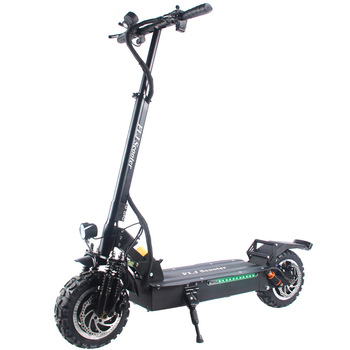 flj newest design foldable electric scooter for adults with 3200w motor wheel electric scooter off road fat tire kick scooter FLJ T113 Upgrade 60V/3200W Electric Scooter with dual Motor Kick Scooter electrique Elektroroller adults scooter electrico