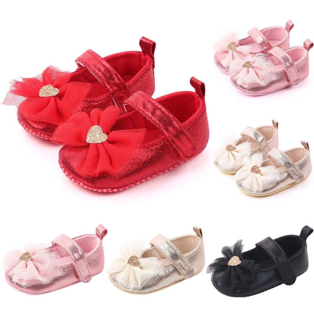 Baby Shoes Winter Baby Girl Shoes Comfortable Butterfly-knot Novelty First Walkers Kid Shoes Anti-slip Prewalker Sneakers 0-12M