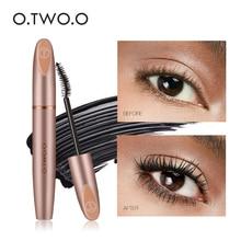 O.TWO.O 4D ipek fiber Kirpik Maskara Kozmetik Maskara Su Geçirmez Mürekkep Rimel Kirpik Uzatma Curling Kalın Göz Lashes