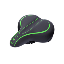 цена на JANQI  High Quality 300mm*200mm Soft Pad Air Comfort Cushion PU Leather MTB Road Saddle Seat Bicycle Saddle Bike Spare Parts