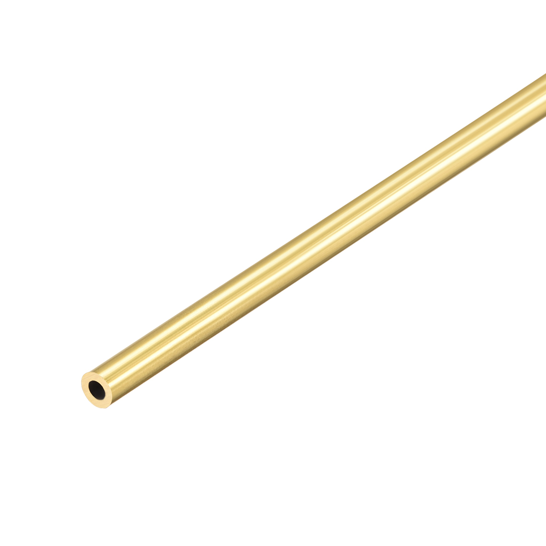Uxcell Brass Round Tube 300mm Length 1mm Wall Thickness Seamless Straight Pipe Tubing 4.5mm OD 1Pcs