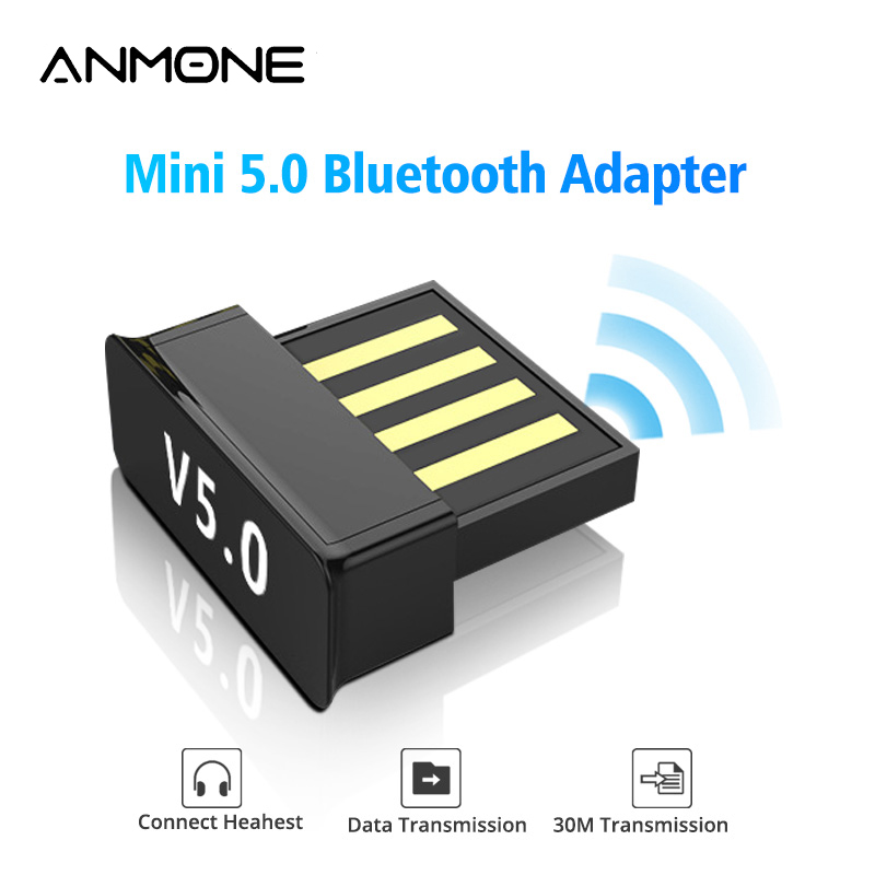 ANMONE Mini Wireless Bluetooth Dongle 5.0 USB Bluetooth Adapter PC Tablet Music Receiver Headset Keyboard Wireless Connector