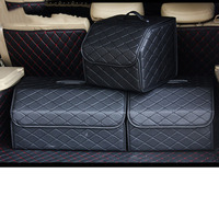 Car Trunk Organizer Car Rear Seat Back Storage Box Stowing Tidying Interior Accessories Black Size S M L