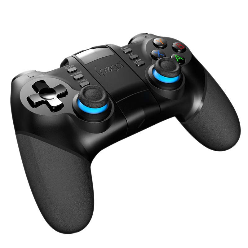 Ipega Pg-9156 Smart Bluetooth Game Controller Gamepad Wireless Joystick Console Game With Telescopic Holder For Smart Tv/ Phone/