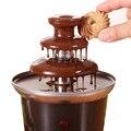 DIY 3 яруса шоколадные фонтаны мини из нержавеющей стали Шоколадный расплав Отопление фондю водопад машина Свадьба День Рождения Вечеринка
