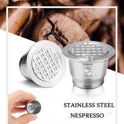 Wielokrotnego napełniania 4 sztuk Upgrade czworokątny otwór do Nespresso kapsułka ze stali nierdzewnej metalowy filtr do kawy wielokrotnego użytku kubek wielokrotnego użytku Dripper w Filtry do kawy od Dom i ogród na