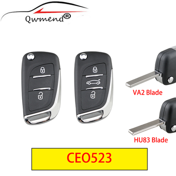 for Citroen Key Shell 2/3buttons Smart Car Fob Case For Peugeot 307 308 407 408 3008 PICASSO C2 C3 C4 C5 C6 C8