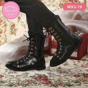 Image 2 - Ayakkabı bebek BJD kahverengi PU deri moda Mini oyuncak erkek erkek ayakkabıları 1/3 bebek için IP Hid ID72 bebek aksesuarları luodoll