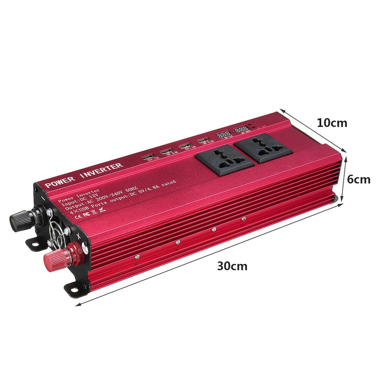 KROAK Auto Inverter DC 12V zu AC 200-240V 8000W Spannung Power Converter Digitale Display Geändert sinus Welle 4 USB Port 3 AC Outlet