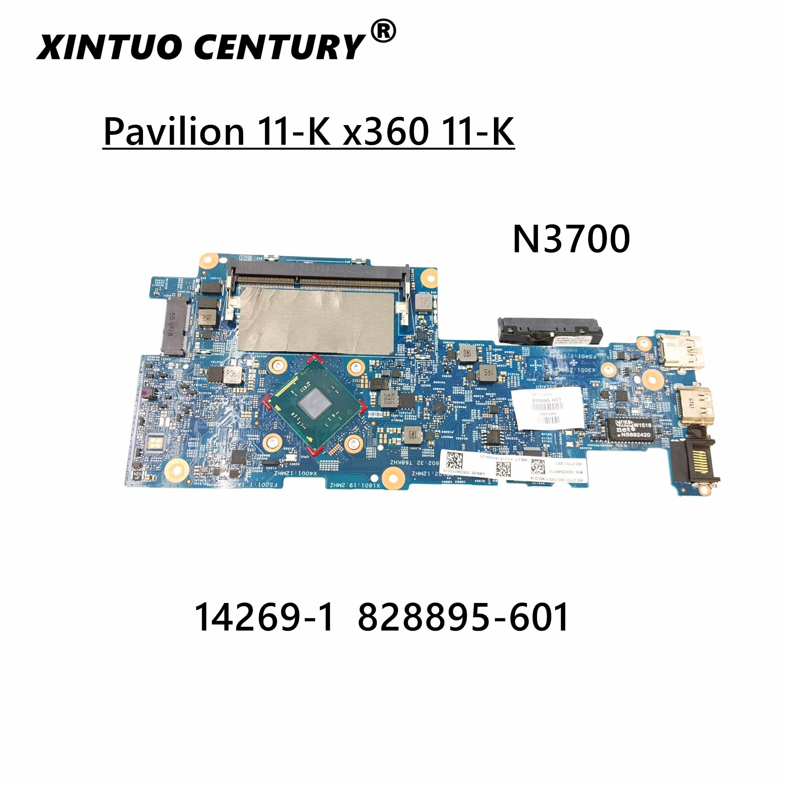 Материнская плата для ноутбука HP Pavilion 11-K x360 11-K128CA 828895-001 828895-601 14269-1 с процессором N3700 DDR3L 100% рабочий