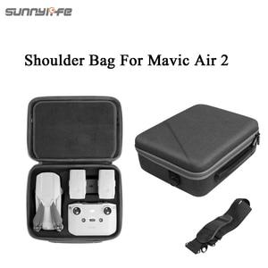 Image 2 - Sunnylife Portable Mavic Air 2 étui de transport sac à bandoulière Drone sac télécommande sac de rangement pour Mavic Air 2