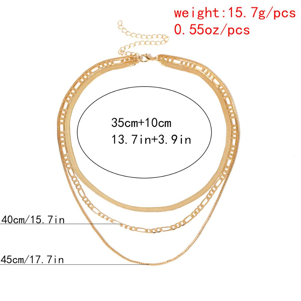 Vintage Multi Layered Tassel Pendant Choker Necklace Collar 2020 Gothic Punk Snake Link Chain Necklace Women New Year Jewelry