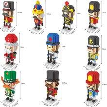 Mini Blocks T Micro Blocks Anime DIY Building Toys Juguetes Auction Figures Guard Soldier Unit Brick Head Model Diamond Blocks цена