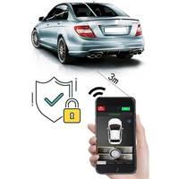 Chave inteligente Keyless Entry Fecho Central/Desbloquear Com Sistema de Alarme Kit Para 2015 Kia Rio Smartphone APP Remoto Carro tronco