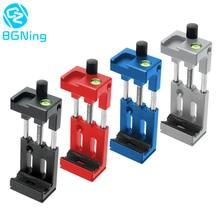 Bgning XJ 8 Telefoon Clip Statiefkop Beugel Mobiele Telefoon Houder Voor Zaklamp Microfoon W/Waterpas Koude Shoe Mount adapter