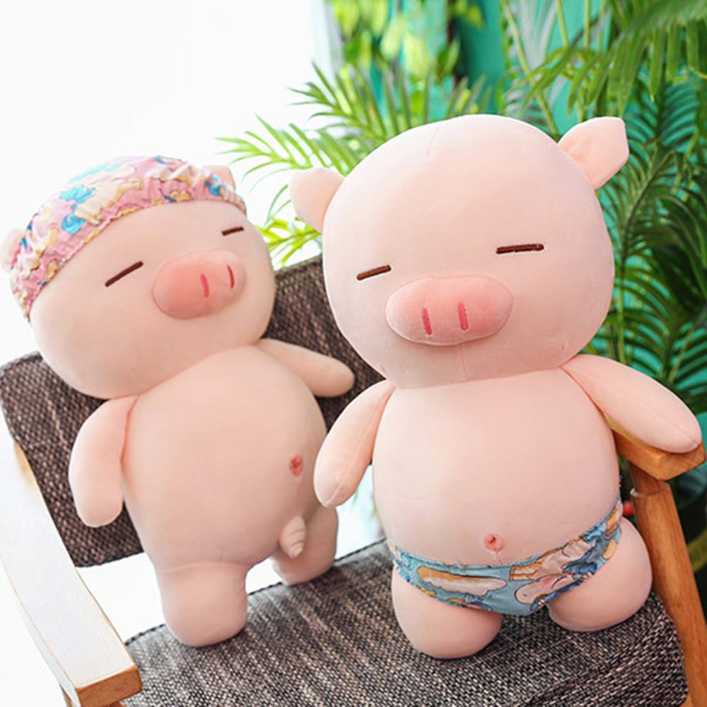 Creative Soft Beach Pig Plush Toy Cute Swimming Trunks Pig Doll Sleeping Pillow Plush With Beach Shorts Lovely Toy