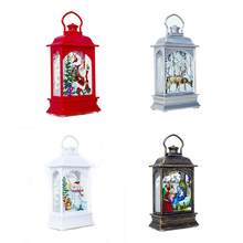 Christmas Decoration Lamp Portable LED Lanterns Decorative Lamp For Christmas Tree Ornaments Gifts(China)
