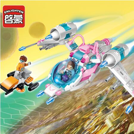 Models building toy 1607 Space Adventure Spaceship 229Pcs Building Blocks compatible with  toys & hobbies for children