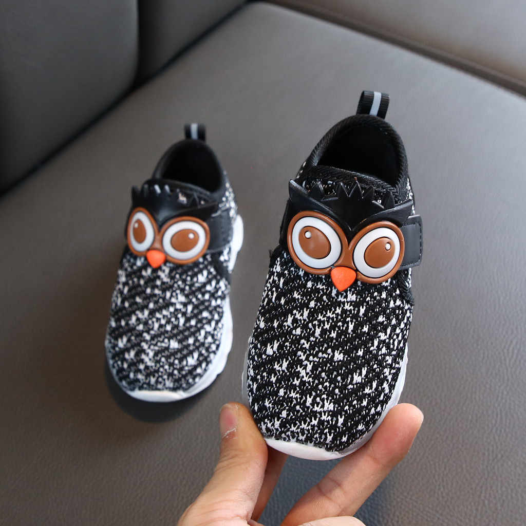 Bebek bebek ayakkabısı Bebek Kız Erkek Çocuklar Ayakkabı Sevimli Karikatür Led Işıklı spor ayakkabılar Sneakers Zapatillas Nina Детская Обувь
