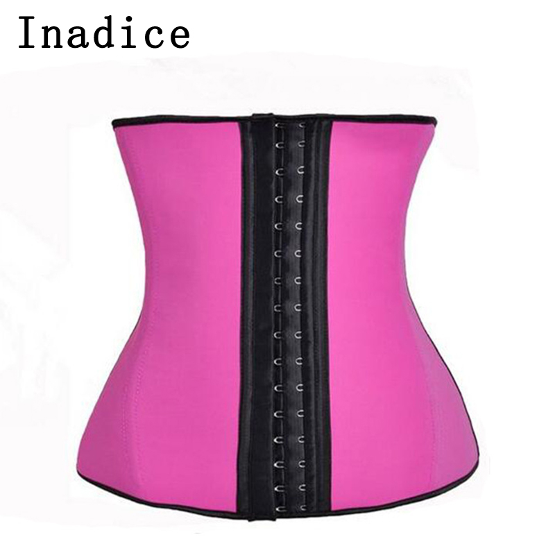 Inadice Comfortable Elastic Belt Fashion Corset Belt Women Cummerbunds Neoprene Clothing Wide Belt Solid Slimming Belt Wholesale