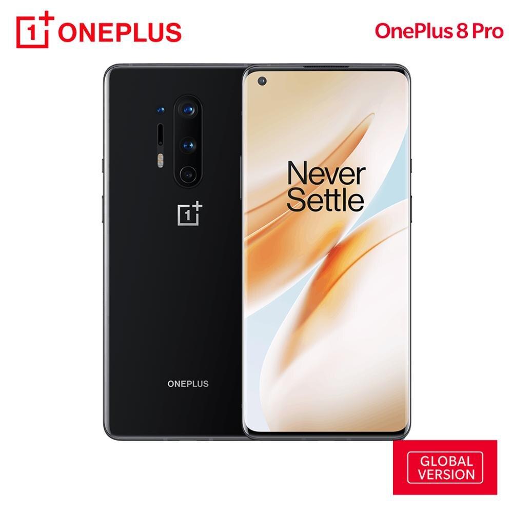 OnePlus 8 Pro глобальная версия 12 Гб ОЗУ 256 Гб ПЗУ 5G Смартфон Snapdragon 865 48MP Quad Camera 120 Гц 6,78