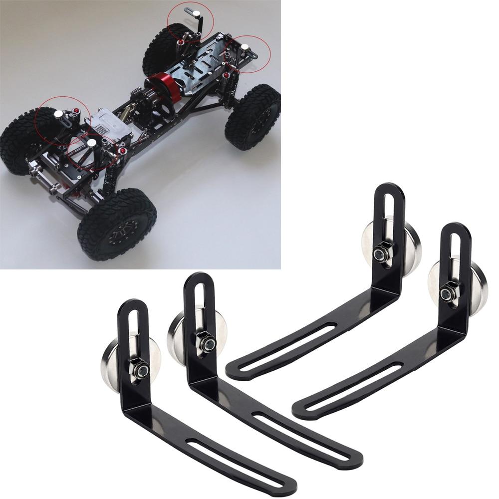INJORA 4PCS RC Car Shell Body Mount Metal L-Soporte con Im/án Metal L-Bracket with Magnet para 1:10 RC Crawler Car Axial SCX10 90046 D90