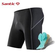 Santic Uomini Ciclismo Shorts 4D Imbottito Antiurto Bike Shorts Coolmax MTB Della Bici Della Strada Pro Shorts Anti pilling Riflettente abbigliamento