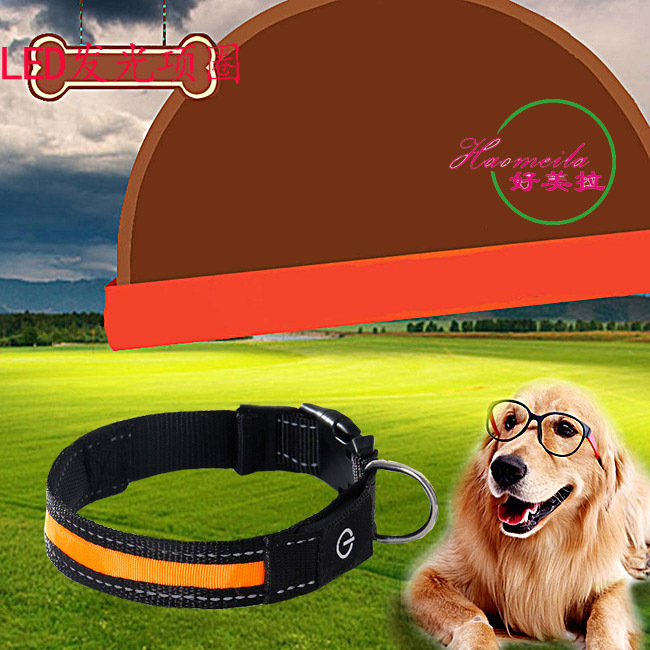LED Luminous Collar Pet Shining Dog Cat Bandana Pet Anti-Lost Dog Neck Ring