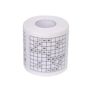 Прочные судоку напечатанные бумажные салфетки туалетная бумага водопоглощающая кожа чистые бумажные полотенца забавная игра забавная пра...