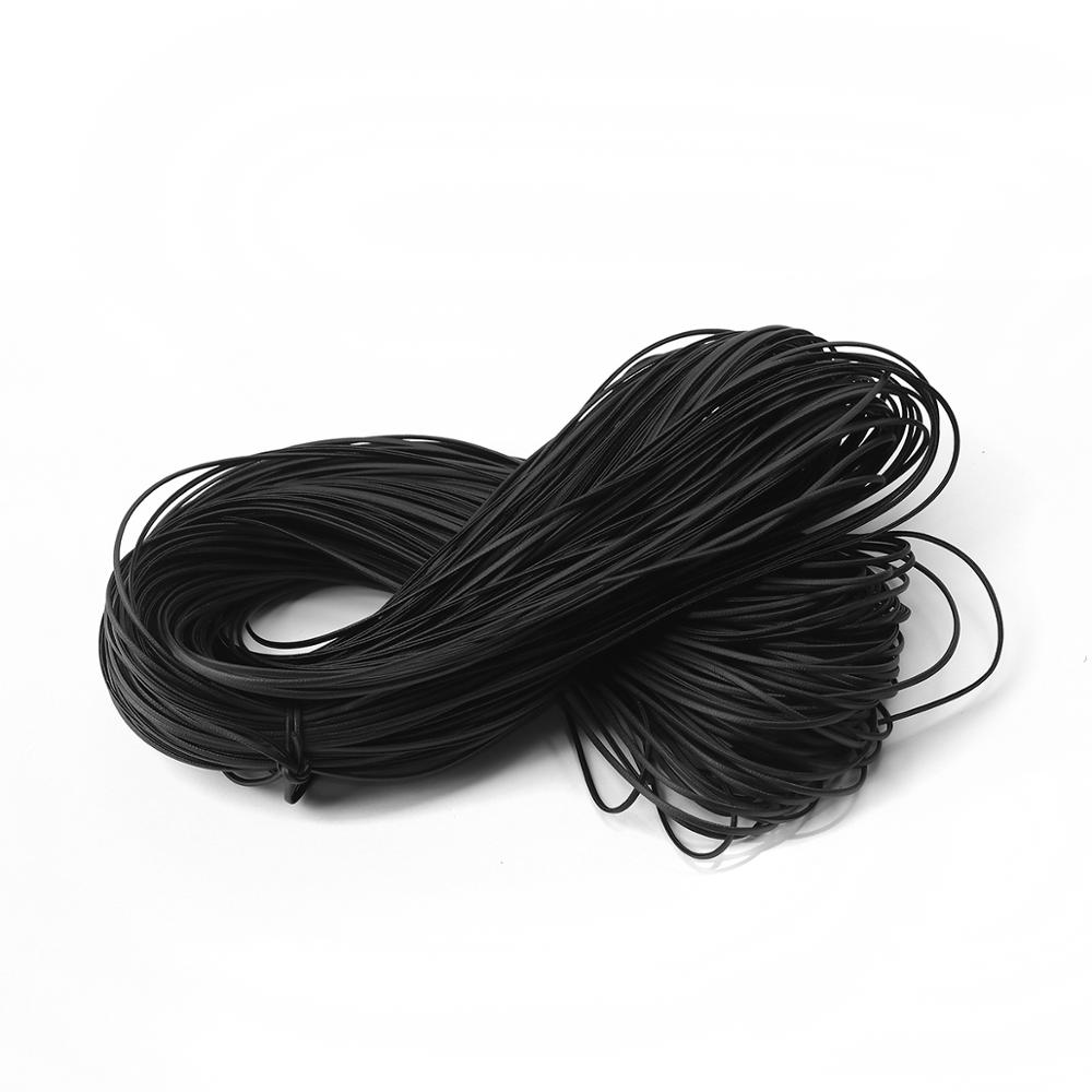 DoreenBeads Simple PU Leather Chain Jewelry Cord Rope Black For Women Men DIY Jewelry Findings 2mm, 10 M