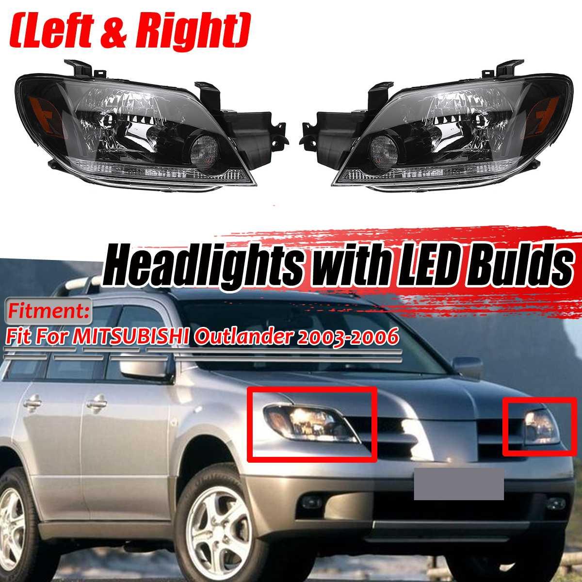 Links + Rechts Auto Front Scheinwerfer Kopf Lampen Lichter Montage Mit Lampe Für MITSUBISHI Für Outlander 2003 2004 2005 2006