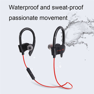 Image 2 - Wireless Bluetooth Earphones Sport Earbuds Stereo Headset With Mic Earloop Ear Hook Headphone Handsfree Earpiece For Smartphones
