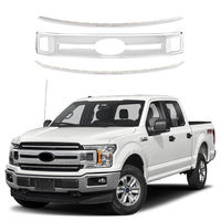Loyalty for Ford F150 XL 2018 2019 2020 Front Grille Grill Cover Trim Decorative Strips ABS Chrome Car Styling Accessories