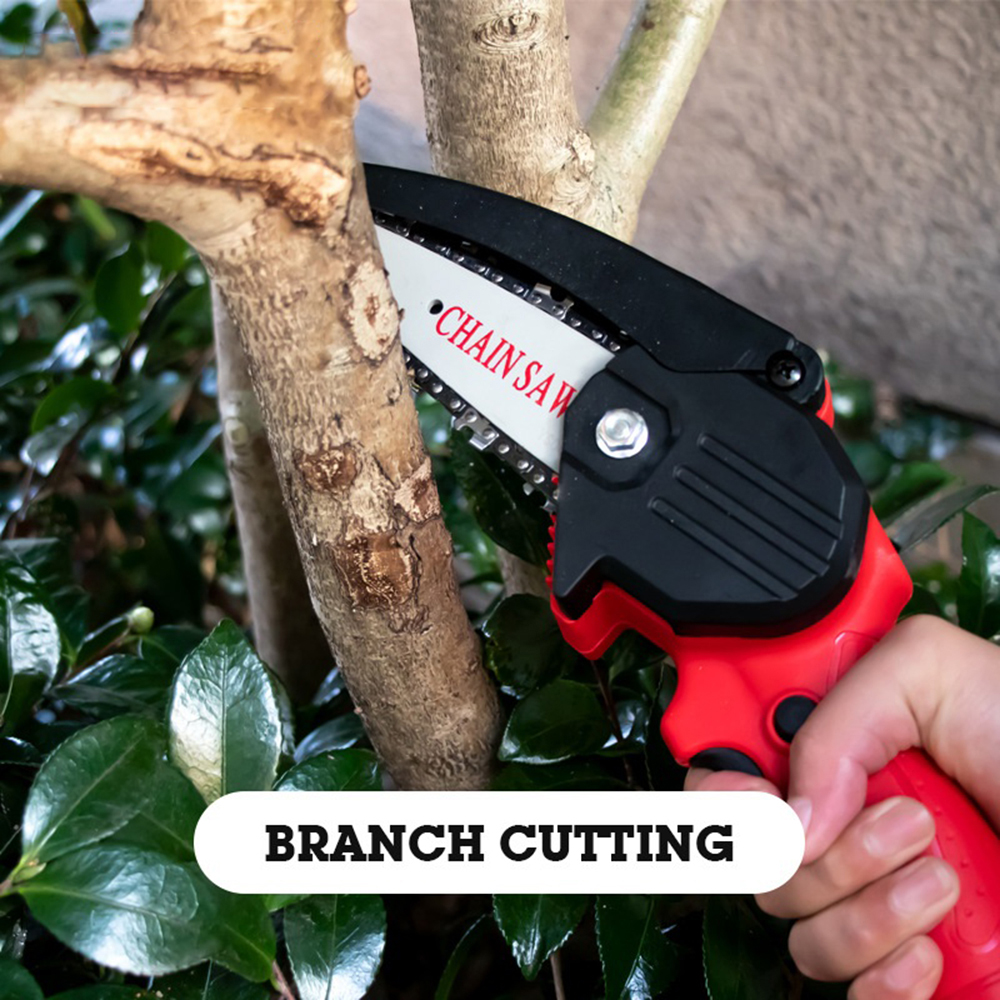 220V Rechargeable Handheld Portable Electric Pruning Saw Cordless Mini Chainsaw Small Wood Splitting Chainsaw